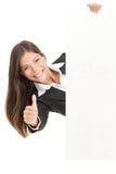 reklamy mienia znaka kobieta Obraz Royalty Free