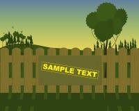Reklamy na drewnianym ogrodzeniu na natury tle Obrazy Royalty Free