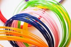 REKLAMY plastikowe dla 3D drukarki, obraz royalty free