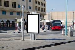 Reklamy przestrzeń z ścinek ścieżką w przystanku autobusowym Obraz Royalty Free