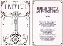 Reklamy, ulotka, zaproszenia lub kartka z pozdrowieniami, royalty ilustracja