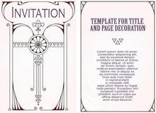 Reklamy, ulotka, zaproszenia lub kartka z pozdrowieniami, ilustracja wektor