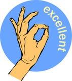 reko kvinnahand, utmärkt tecken Illustration för vektor EPS10 Royaltyfria Bilder