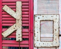 reko uttryck på dörrar royaltyfri foto