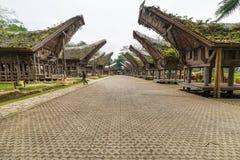 Rekonesansowa tradycyjna wioska, Taniec Toraja Zdjęcia Stock