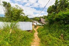 Rekonesansowa tradycyjna wioska w Taniec Toraja Zdjęcia Stock