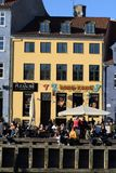 Rekonesansowy nyhavn kanał w Kopenhaga mieście Dani zdjęcia royalty free