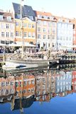 Rekonesansowy nyhavn kana? w Kopenhaga mie?cie Dani zdjęcia royalty free