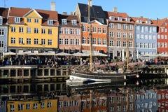Rekonesansowy nyhavn kana? w Kopenhaga mie?cie Dani obrazy royalty free