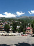 Rekongpeo镇在Kinnaur印度 免版税库存图片