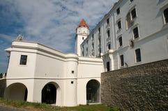 Rekonstruerad Bratislava slott - Slovakien Arkivbilder
