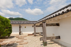 Rekonstruerade väggar av Tanabe rockerar i Maizuru, Japan Fotografering för Bildbyråer