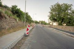 Rekonstruktion auf der Straße Stockfoto