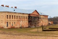Rekonstruktion av den forntida slotten av polska magnater Potocki i Tulchin Fotografering för Bildbyråer