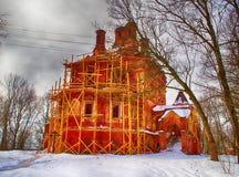 Rekonstruktion av den gamla kyrkan Royaltyfria Bilder