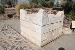 Rekonstruktion av ett altare, telefon-öl Sheva, Israel Royaltyfria Foton