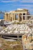Rekonstruktion der Akropolises Stockbilder