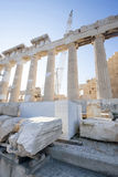 Rekonstruktion des Parthenons in der Akropolise Lizenzfreie Stockfotografie