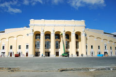 Rekonstruktion des zentralen Stadions, Yekaterinburg lizenzfreie stockfotos