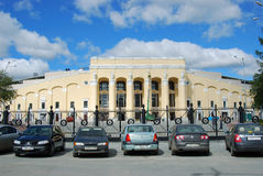 Rekonstruktion des zentralen Stadions, Yekaterinburg lizenzfreies stockbild