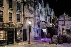 Rekonstruktion einer viktorianischen Stadt Stockbilder