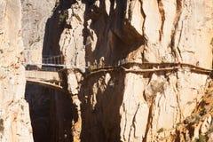 Rekonstruktion von Camino Del Rey Stockbild