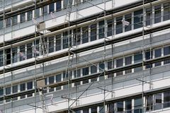 Rekonstruktion von Häusern Stockfotos