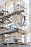 Rekonstruktionsarbeit über Parthenon in Griechenland Lizenzfreie Stockbilder