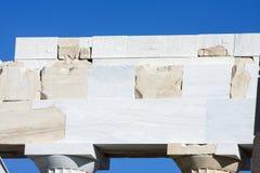 Rekonstruktionsarbeit über Parthenontempel Lizenzfreies Stockbild