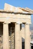Rekonstruktionsarbeit über Tempel von Athena Nike Stockfoto