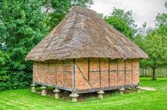 Rekonstruujący średniowieczny budynek Fotografia Stock