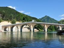 Rekonstruujący most od Tureckiego okresu w miasteczku Konjic Obrazy Royalty Free