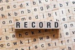 Rekord- ordbegrepp fotografering för bildbyråer