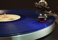 Rekord på skivtallrik Royaltyfri Fotografi