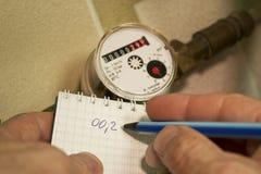 Rekordbeweis des Wassermessgeräts lizenzfreie stockfotos