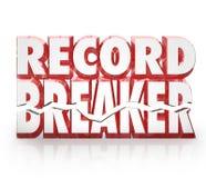 Rekordbrecher 3D fasst historische beste Ergebnis-Ergebnisse ab Stockfoto