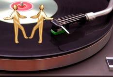 Rekordspieler mit CD Lizenzfreie Stockbilder