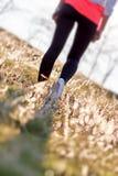 Rekreacyjni spacery w naturze ulepszają twój zdrowie Obrazy Royalty Free