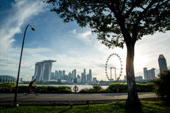 Rekreacyjny czas w Singapur linii horyzontu Zdjęcia Royalty Free