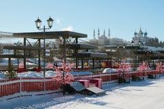Rekreacyjny teren na Kremlevskaya bulwarze kazan Russia Zdjęcia Stock