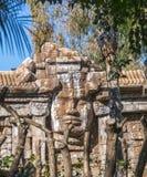 Rekreation av den kambodjanska templet av Angkor Royaltyfria Foton