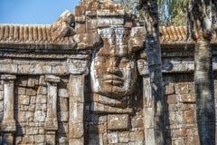 Rekreation av den kambodjanska templet av Angkor Arkivbilder