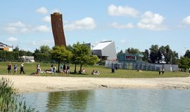 Rekreation sjö i staden av Groningen Royaltyfri Foto
