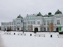 Rekreationsområde på teatern för drama för Omsk stat den akademiska Royaltyfri Bild