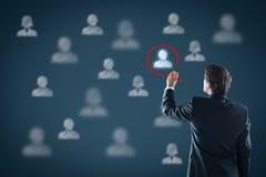 Rekruta i dzierżawienia działy zasobów ludzkich HR Obrazy Royalty Free