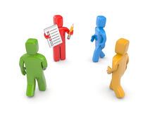 Rekrutacja. Z kolorów ludźmi Obrazy Royalty Free