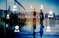 Rekrutacyjny Zatrudnia kariery Emplyment akcydensowy pojęcie Zdjęcie Stock