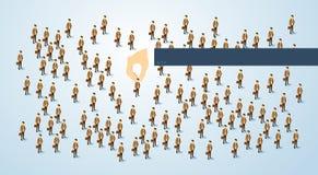 Rekrutering die 3d Isometrisch Bedrijfs van Person Candidate People Group met de hand plukken Stock Afbeelding