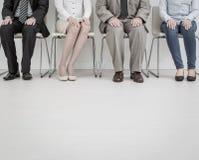 Rekrutering die rekruut het huren huur aanwerven - concepten stock afbeelding