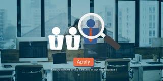 Rekrutering het Huren Werkgelegenheid Job Seekers Concept royalty-vrije illustratie